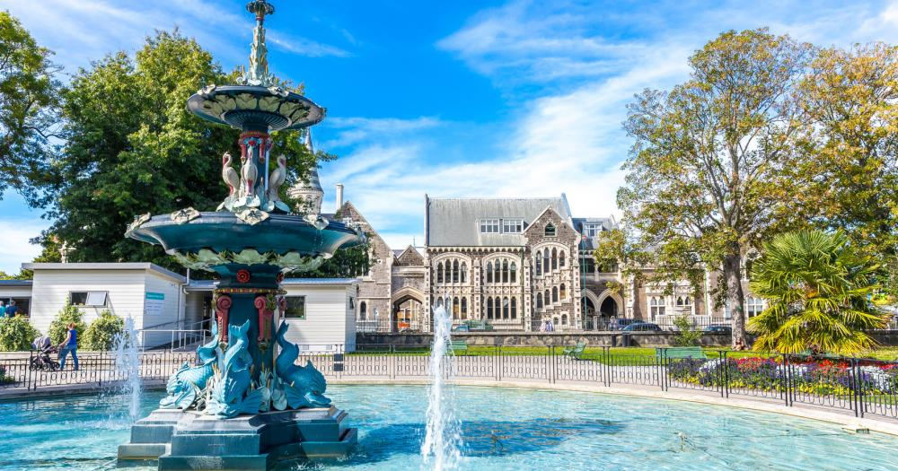 Christchurch - Blick auf die Botanic