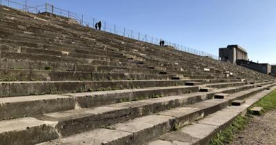 Reichsparteitagsgelände - Stufen am Zeppelinfeld