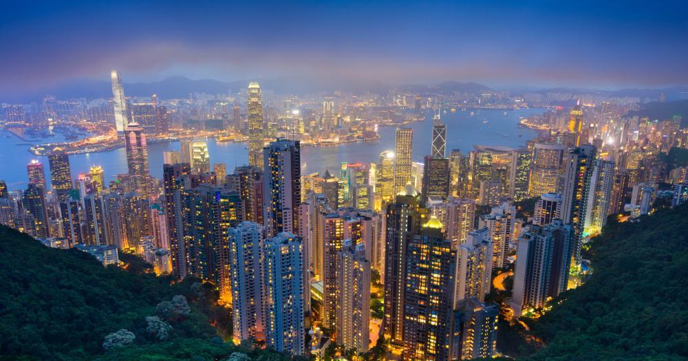 Hong Kong - Blick auf die Skyline