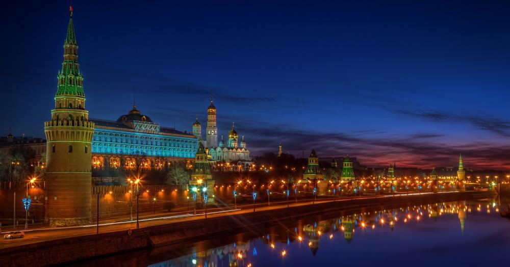 Moskau - Ansicht bei Nacht