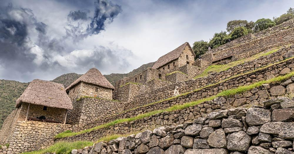 Machu Picchu - alte Steinhäuser
