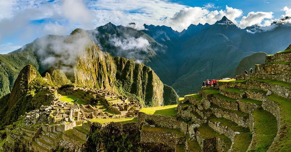 Machu Picchu - Terrassen im Sonnenaufgang