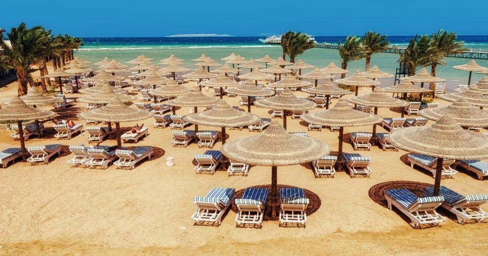 Hurghada - Blick auf den Strand