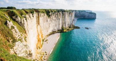 Normandie / Sicht von den Etretat white cliffs