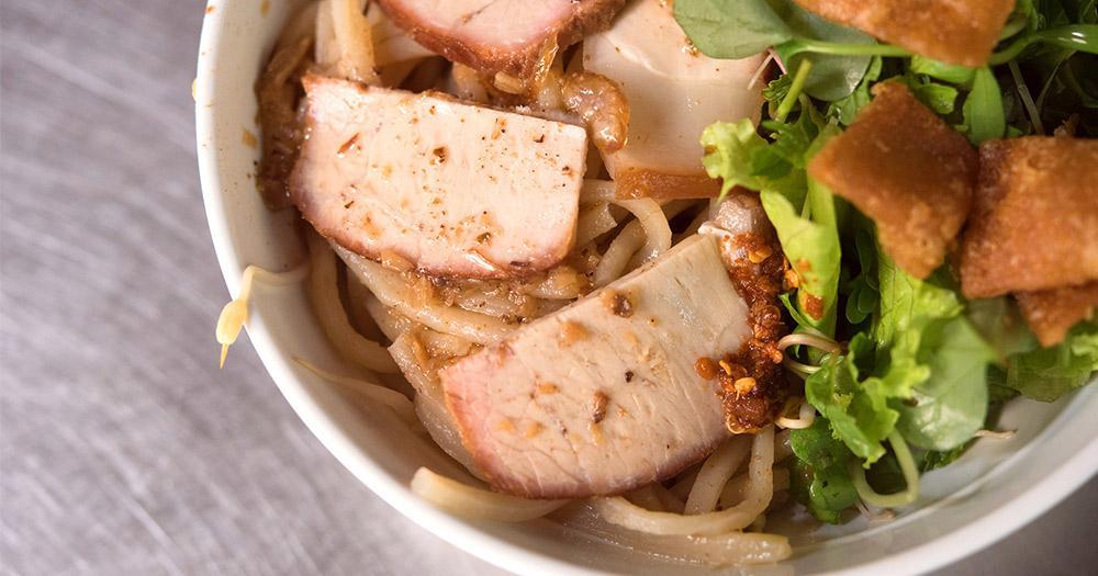 Hoi An / Cao Lau ein Reisnudelgericht mit Schweinefleisch