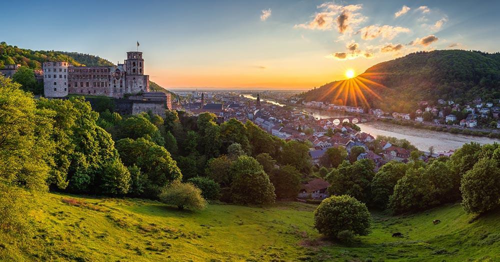 Heidelberg / Sicht über Heidelberg