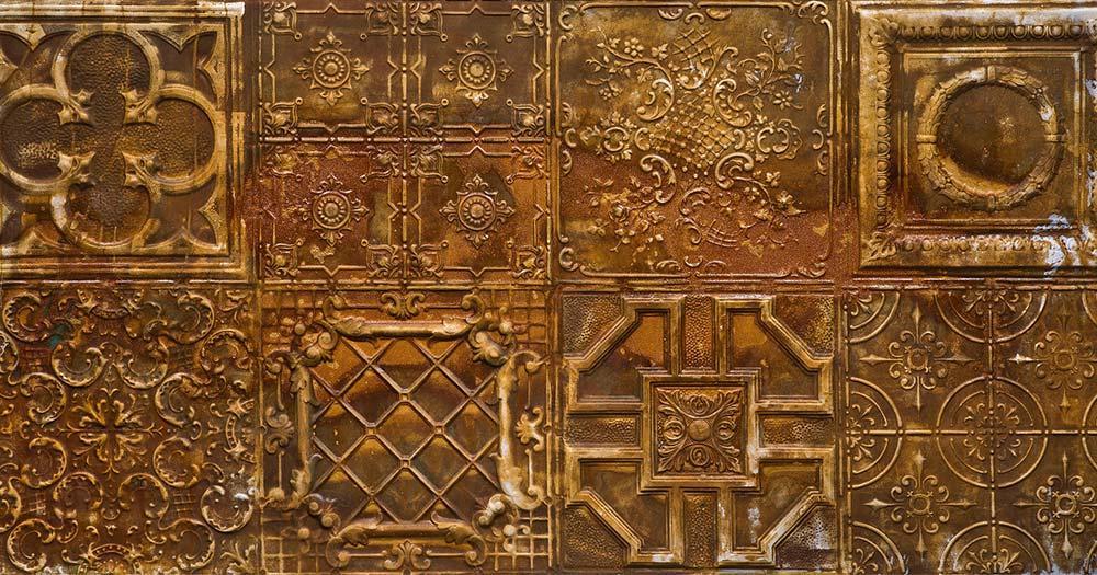 Alhambra / goldenes metallisches Dekor