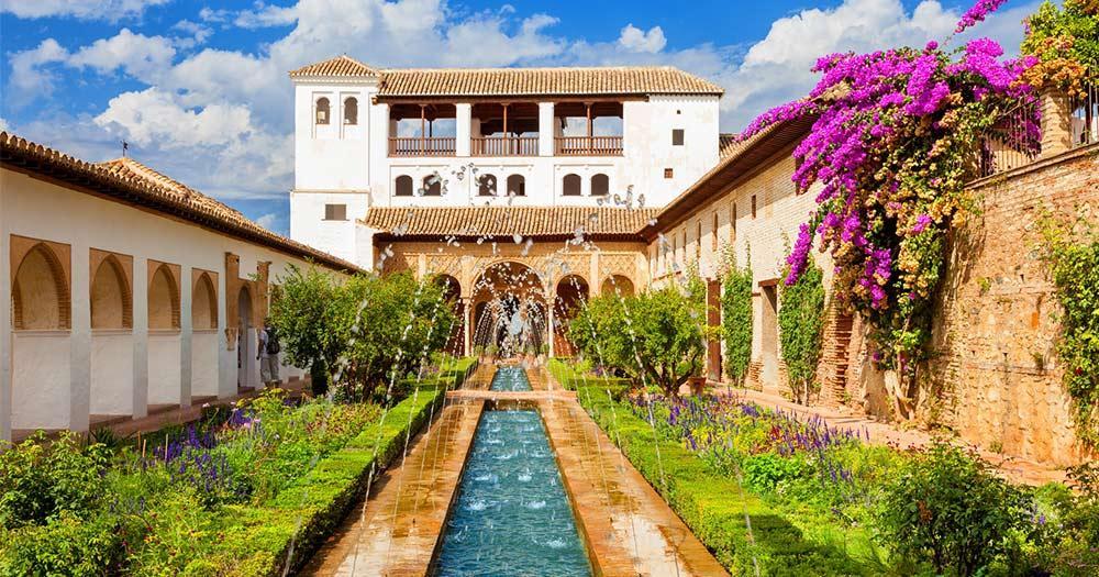 Alhambra / Brunnen und Gärten von Generalife