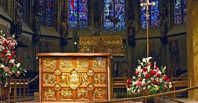 Aachener Dom / Bild von dem Dominneren