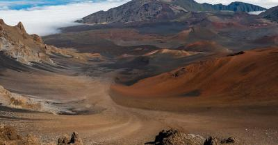 Hawaii-Volcanoes-Nationalpark / Blick auf die Berge im Haleakala National Park in Maui