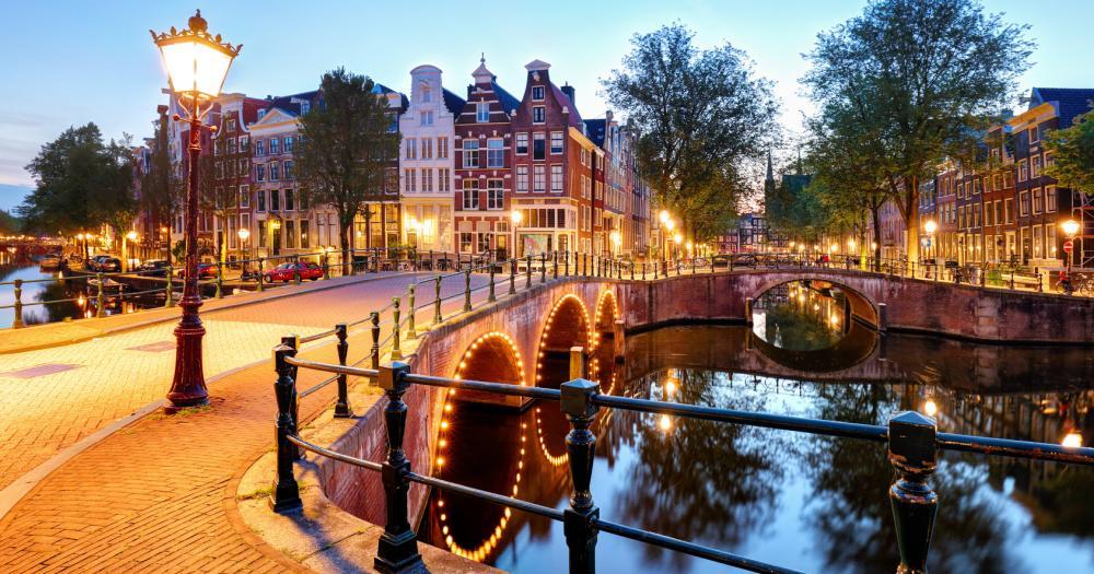 Amsterdam - Blick auf die Keizersgracht