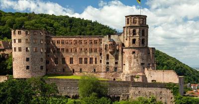 Schloss Heidelberg / Seitenansicht von Schloss Heidelberg