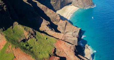Na Pali Coast State Wilderness Park  / Luftaufnahme von     Na Pali Coast State Wilderness Park