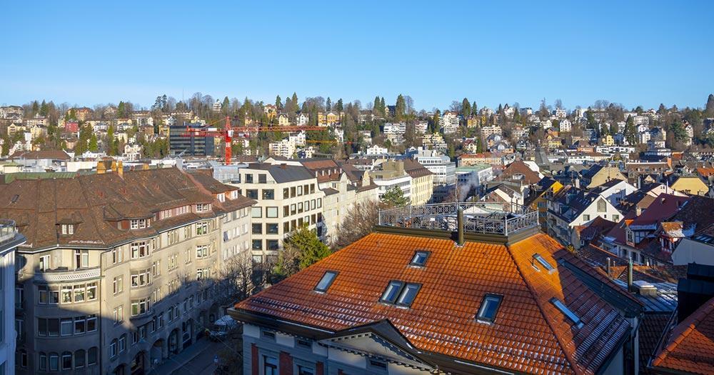 St. Gallen / Luftaufnahme von St. Gallen