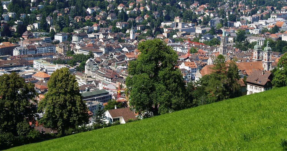 St. Gallen / Panoramablick über St. Gallen