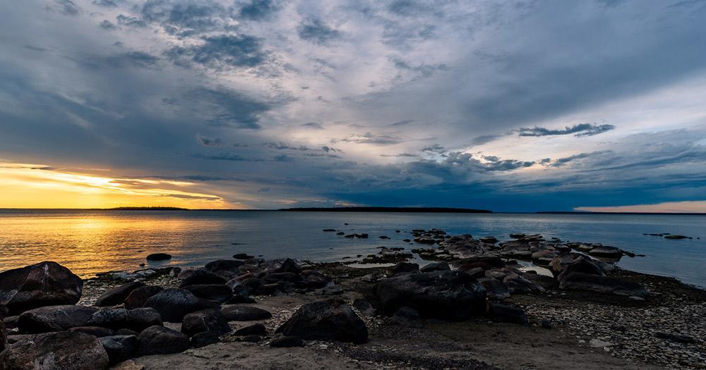 Winnipegsee / Winnipegsee bei Sonnenuntergang