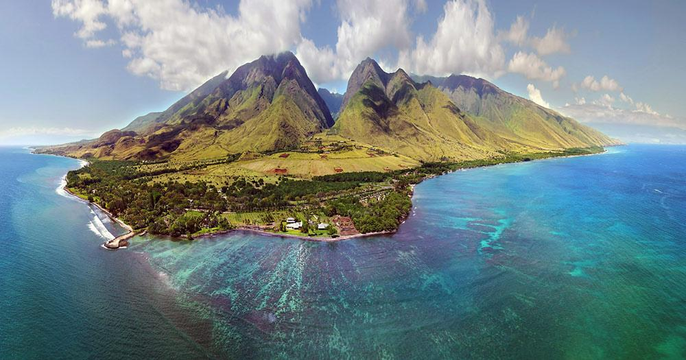 Maui / Panoramaaufnahme von Maui