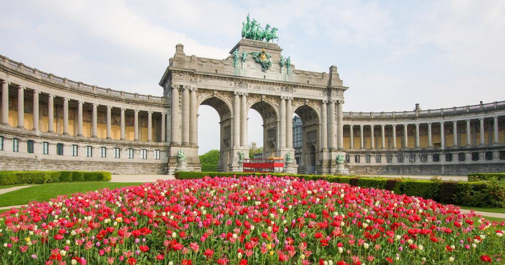 Brüssel - Blick auf den Triumphbogen im Jubelpark