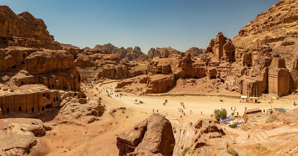 Petra / Panoramaaufnahme von Petra