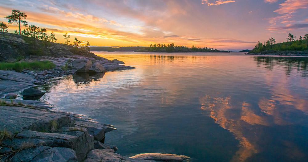 Ladogasee / Sonnenuntergang am Ladogasee