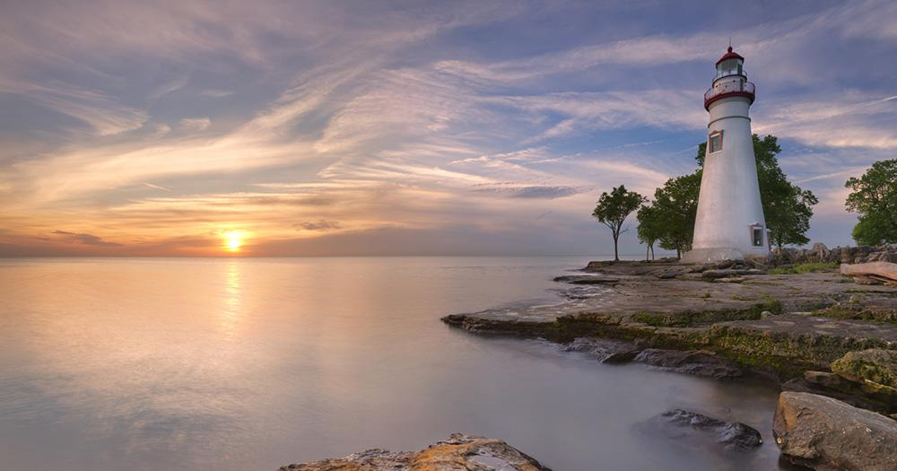 Eriesee / Sonnenuntergang am Eriesee