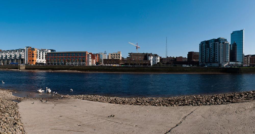 Limerick / Panoramaaufnahme von Limerick