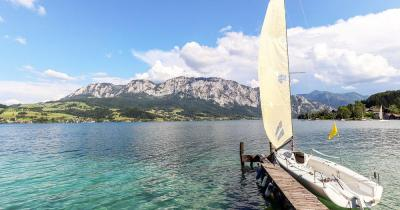 Attersee / Segelboot am Attersee