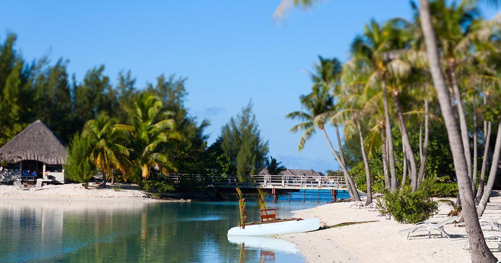 Tahiti / Strand von Bora Bora