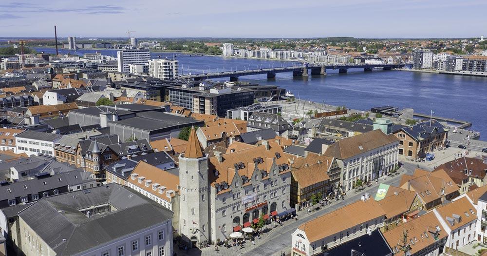 Aalborg / Luftaufnahme von Aalborg