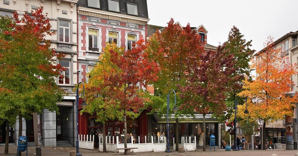 Charleroi / Charles II square in Charleroi