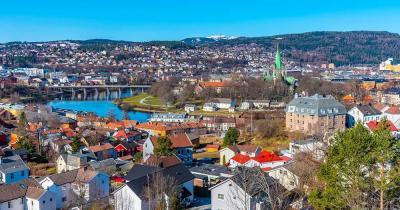 Trondheim / Luftaufnahme von Trondheim