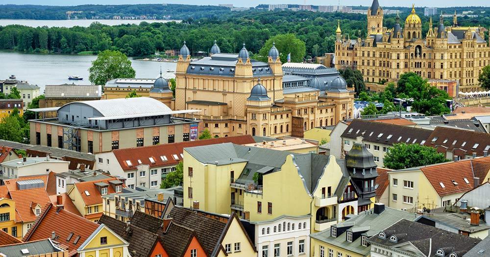 Schwerin / Panoramablick über Schwerin
