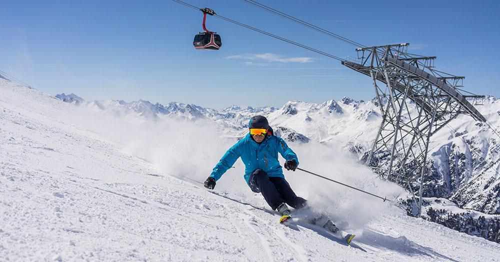 Ischgl - Skiaction auf gut präparierten Pisten