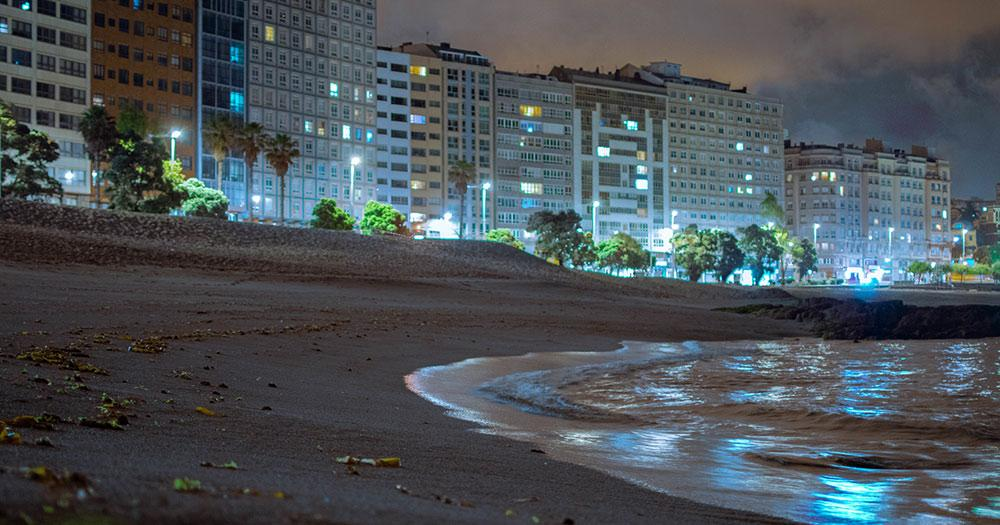 A Coruña / Playa de Orzan inA Coruña in Spanien