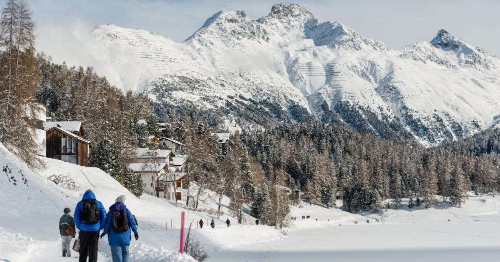 St.Moritz - Schneewanderung am St.Moritzer See