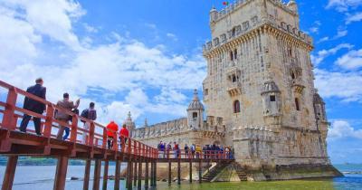Turm von Belém / Frontansicht von Turm von Belém