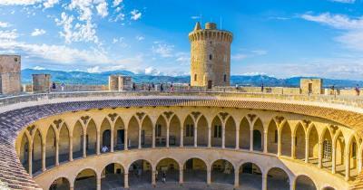 Castell de Bellver / Aufnahme von oben des Castell de Bellver