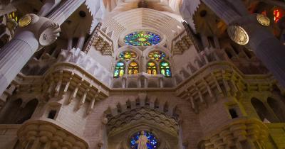 La Sagrada Familia / La Sagrada Familia von Innen