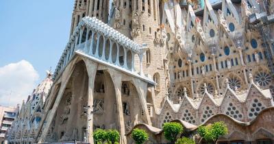 La Sagrada Familia / Nahaufnahme der La Sagrada Familia