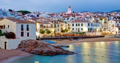 Poble Espanyol / Panoramablick über Poble Espanyol