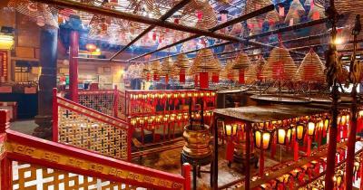 Man Mo Tempel / der Man Mo Tempel von innen