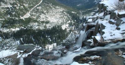 Spindlermühle - Blick auf den Pantschefall im Riesengebirge