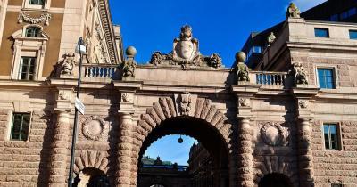 Stockholmer Schloss / Tor zum Reichstag