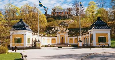 Skansen / der Haupteingang zum Skansen