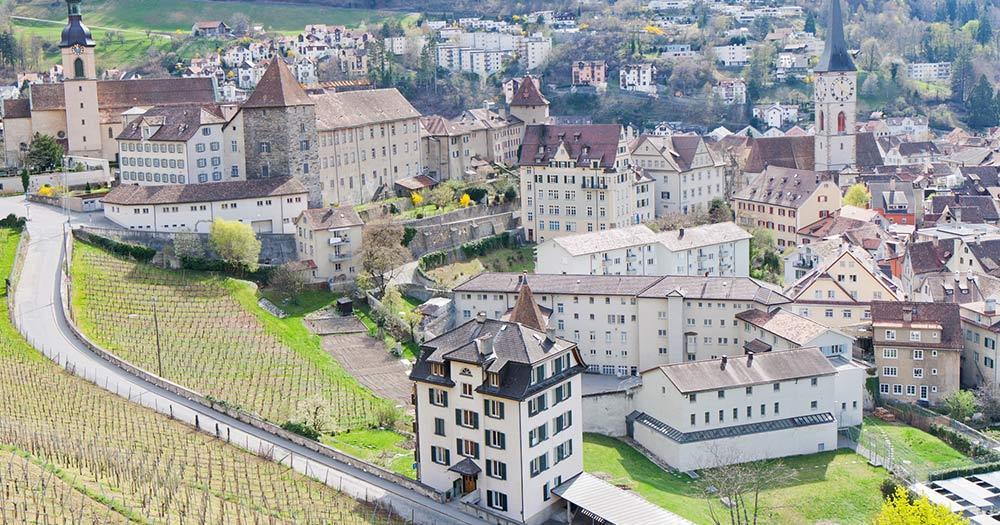 Chur / Panoramablick von Chur