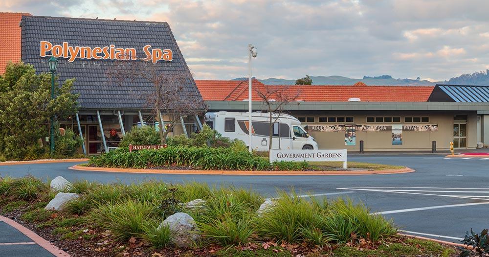 Rotorua / das beliebte Polynesian Spa in Rotorua