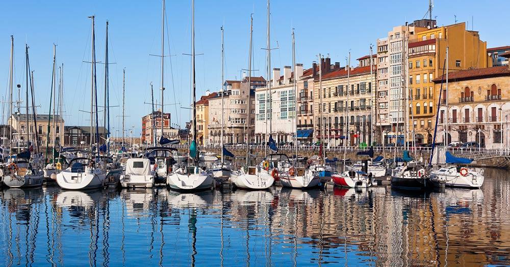 Gijón / alter Hafen von Gijón
