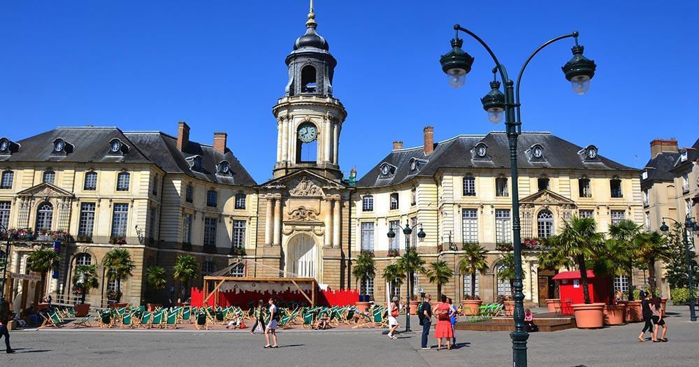 Rennes / das Rathaus in Rennes