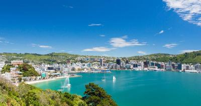 Wellington Harbour / die Sicht auf Wellington
