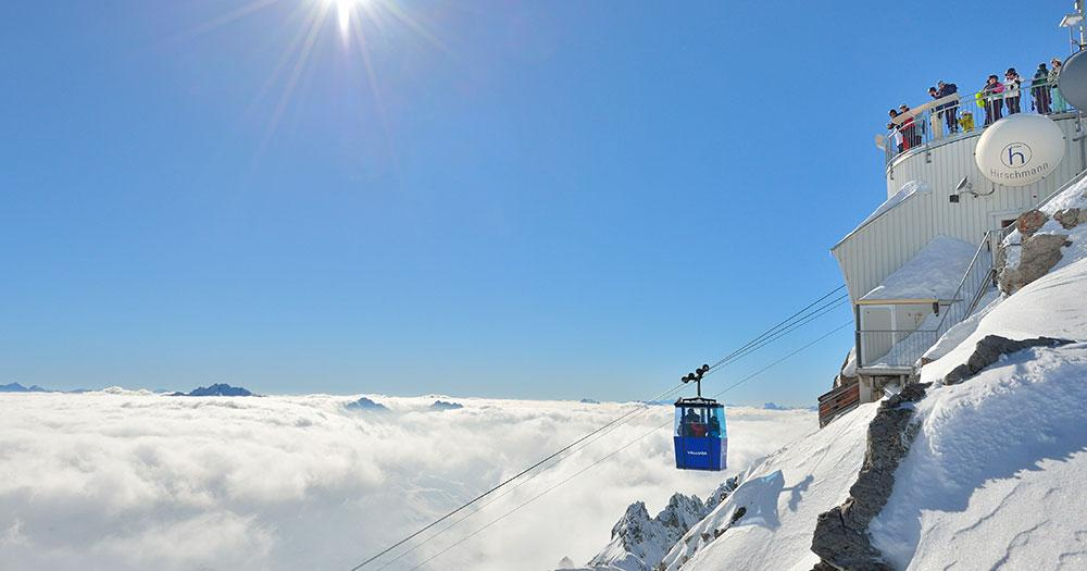 Ski Arlberg - Fahrt mit der Gondel auf den Valluga